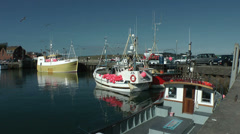 Fishing boats at Padstow harbour, Cornwall, United Kingdom, England Stock Footage