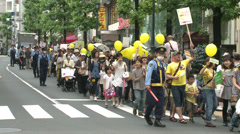 Stock Video Footage of Anti Nuke Demo Tokyo