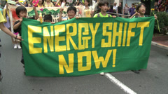 Stock Video Footage of Anti Nuke Demo Tokyo