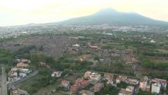 Aerial view of Pompei ruins Stock Footage