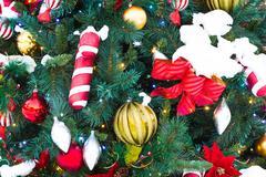 christmas decoration with snow - stock photo