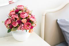 decoration artificial flower - stock photo