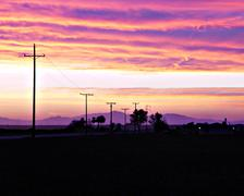 Stock Photo of Blythe California Desert Sundown