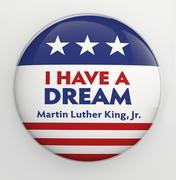 Martin Luther King badge Stock Illustration