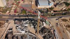 Construction Site -Aerial Shot Stock Footage