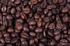 Brown coffee beans background texture, Stock Photos