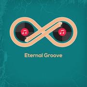 Abstract music vintage concept Eternal Groove - stock illustration