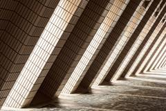 diagonal architectural abstract - stock photo