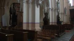Roman Catholic Church interior 8 Stock Footage