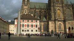 Prague Castle - St. Vitus Temple Stock Footage
