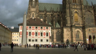 Stock Video Footage of Prague Castle - St. Vitus Temple