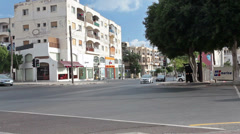 Old central part of Paphos town with roads intersection. Cyprus Stock Footage