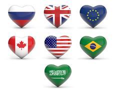Global Powers Stock Illustration