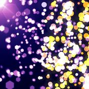 Stock Illustration of purple orange bokeh