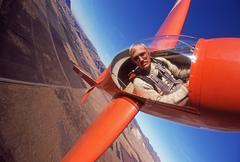 Glider aerobatics - stock photo
