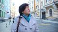women tourist in a big beautiful city 4 HD Footage