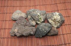 Volcanic stones Stock Photos