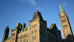Parliament Hill Ottawa Time Lapse 2 Stock Footage