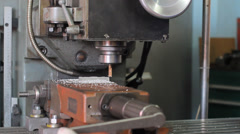 Drilling Machine, cnc machine - stock footage
