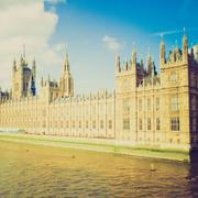 Stock Photo of vintage look houses of parliament