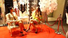 Supermodels present Haute Couture top fashion underwear Stock Footage
