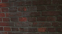 Movement along the brick wall Stock Footage