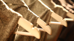 Clothes hang on hanger Haute Couture top fashion Stock Footage