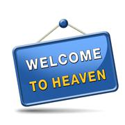 welcome to heaven - stock illustration