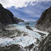scenic landscape at franz josef glacier - stock photo