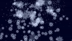 Falling Snow Flakes Christmas Background Stock Footage