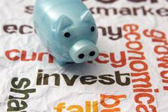 piggy bank and invest concept - stock photo