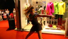 Supermodels catwalk Haute Couture top fashion by Danza fashion house Stock Footage