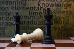 chess and education concept - stock photo