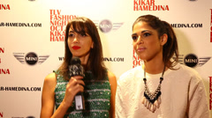 Israeli pop star and fashion model Daniella Pick Stock Footage