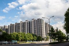 The new housing estate in beijing Stock Photos