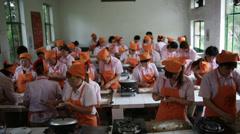 Beijing VoTech Cooking 5 MWS Stock Footage