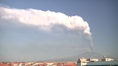 Etna eruption. 26 oct 2013 Stock Footage