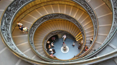 The famous Vatican staircase 11 Stock Footage