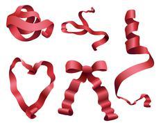 Ribbon Scrolls Stock Illustration