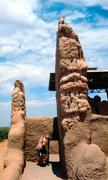 american indian ruins - stock photo