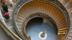 The famous Vatican staircase 10 (zoom out) Stock Footage