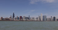 Ultra HD 4K Willis Tower, Chicago Skyline, Lake Michigan, Beautiful Sunny Day Stock Footage