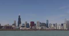 Ultra HD 4K Skyscrapers, Metropolitan Area, USA, Downtown Chicago Skyline Stock Footage