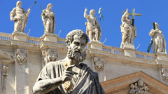 Statue of St. Peter 3 - stock footage