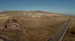 Aerial view of National Security Agency datacenter in Utah Stock Footage