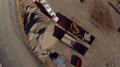 Aerial view of construction site materials Stock Footage