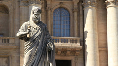 Statue of St. Peter 1 Stock Footage