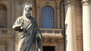 Stock Video Footage of Statue of St. Peter 1