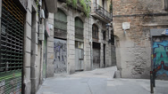 Stock Video Footage of Painted house in Barcelona