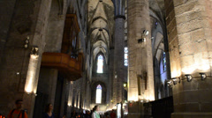 Santa Maria del Mar. Temple, Barcelona. Stock Footage
